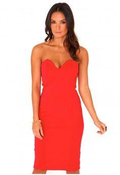 Matilde Bandeau Bodycon Midi Dress - Dresses - Midi Dress - Missguided  $51.04
