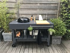 10 Best DIY Grill Station Ideas and Projects DIY In building a DIY grill the first thing you must know is what type of grill you are going to build. Once you know this, then you can build your own DI. Porch Grill, Diy Grill, Diy Outdoor Bar, Outdoor Rooms, Outdoor Living, Fire Pit Backyard, Backyard Pergola, Plancha Grill, Weber Bbq