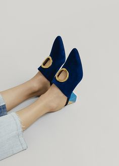 Very Cute Summer Shoes. These Shoes Will Look Good With Any Outfit. The Best of heels in - Shoes Fashion & Latest Trends Sock Shoes, Shoe Boots, Shoes Sandals, Blue Shoes, New Shoes, High Heel Pumps, Latest Shoe Trends, Mode Inspiration, Beautiful Shoes
