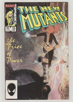 New Mutants Vol 1 25 Copper Age Comic Book.  by RubbersuitStudios