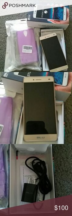 Cell phone (unlocked) Blu Studio Selfie  cell phone, unlocked. Comes with charger, and 3 extra cases Other