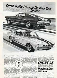 1967 Shelby Mustang GT350 and GT500 | Flickr - Photo Sharing!