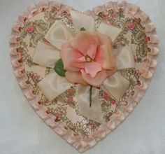 Antique Vintage Valentine Candy Box Gorgeous Collectable Large Gift Box