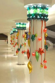 Balloon Christmas Column Covers