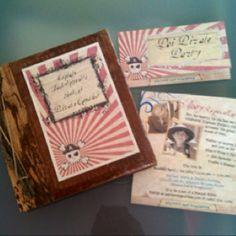 Treasure hunt book and Poi-Pirate invite.