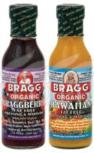 Packaged Grocery: Bragg Organic Oil Free Dressing & Marinade: Braggberry, Hawaiian 12 oz Aisle 1, $5.75
