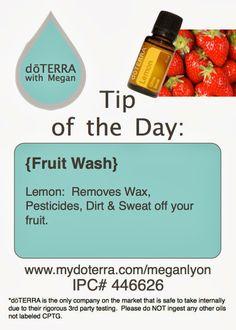 Natural Fruit Veggie Wash. Order at www.mydoterra.com/becharmed2.com