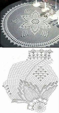Large round napkin
