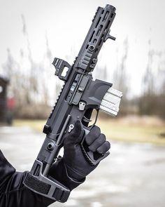 Military Weapons, Weapons Guns, Guns And Ammo, Rainier Arms, Ar15 Pistol, Submachine Gun, Fire Powers, Cool Guns, Assault Rifle