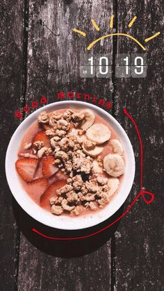 Awesome Super smoothie bowl, 10 byte healthy habits for an improved life Have an Feeds Instagram, Creative Instagram Stories, Instagram And Snapchat, Instagram Story Ideas, Insta Ideas, Smoothie Bowl, Smoothie Recipes, Aesthetic Food, Clean Eating Snacks