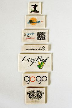 Natural Fabric Labels - custom sewing labels printed with your logo or text