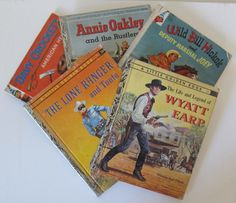 SALE Vintage Cowboy Cowgirl Golden Elf Book Package by gramily