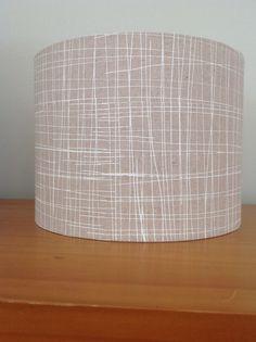 Linen lamp shade Screen printed linen lampshade by RooEllieStudio Shade Screen, Linen Lamp Shades, Printed Linen, Drum, Screen Printing, Oatmeal, Organic, Ship, Colour