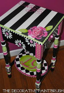 I work with a lot of different color combinations. One of my favorites; pink, green, black & white. I've used it on this redo  and t...
