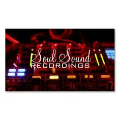 Professional Recording Studio Music Artists Business Card Template