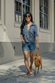 Diy jean shorts ~ just right length