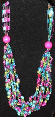 Ladder Ribbon Necklace by saphy98 on Etsy, $7.00