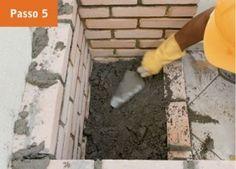 CONSTRUTORA SOUSA: Churrasqueira de tijolos, em 22 passos. Barbecue, Masonry Bbq, Bricks, Cookers, Ovens, Cement, Creative Crafts, Creativity, Barbacoa