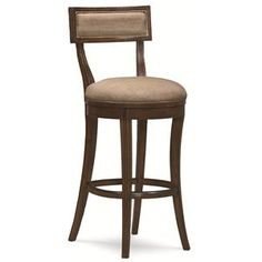 """Schnadig Caracole - Naturally Casual """"Hi-Ho-Lo Dark"""" Upholstered Counter Stool with Memory Swivel and Decoratively Carved Seat Back - Riverview Galleries - Bar Stool Kitchen Counter Stools, Swivel Counter Stools, Counter Height Stools, Bar Counter, Island Stools, Tall Bar Stools, Bar Chairs, Dining Chairs, Pink Chairs"""