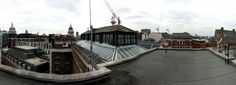 More from the St Bart's Hospital recce from Arwel Wyn Jones - a panoramic view of the rooftop.