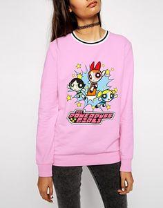 Enlarge ASOS Sweatshirt with Powerpuff Girl Print