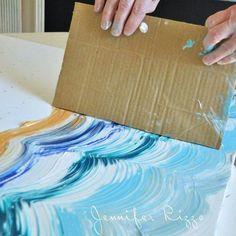 Pintando com papelão