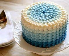 Como fazer bolo ombré / degradê                                                                                                                                                     Mais