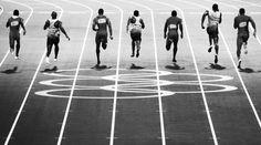 Finale des 100-Meter-Laufes bei den Olympischen Spielen 2012