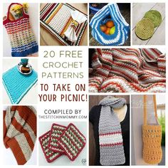 20 Free Crochet Patterns to Take on Your Picnic compiled by The Stitchin' Mommy | www.thestitchinmommy.com