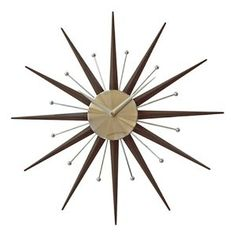 20 Best Clocks Images In 2012 Sunburst Clock Clock Wall