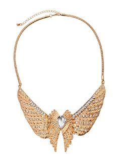 Punk Stylish Alloy Eagle Wings Women's Necklace