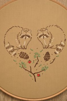 Hand embroidery patterns set woodland by NaNeeHandEmbroidery