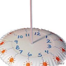 Make a Sun Dial from a Plate - National Wildlife Federation.  Try this hands - on paper plate sundial for Ground Hogs Day. Also for study of sun.