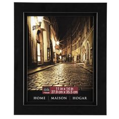 <div>Display a cherished photograph or artwork in this wall frame. The simple black frame looks ...