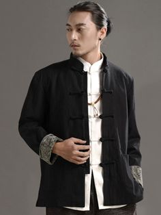 New Style Black Chinese Men's Jacket