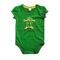 """John Deere Newborn Baby Girls """"Country Cutie"""" Onesie Green Hey Baby Girl, Baby Girl Newborn, John Deere Baby, Baby Boy Pictures, Newborn Onesies, Cute Baby Girl Outfits, Boy Baby Shower Themes, Crochet For Boys, Everything Baby"""