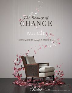 Creative Direction for Baker Furniture Fall Sale Promotion by Make & Co.  #promotiondesign #creativedesign #printdesign #advertising #marketing  #agency #concept #artinstallation #artdirection #furnituredesign