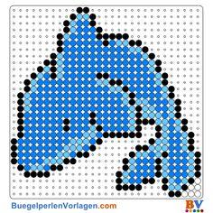 Delphin Bügelperlen Vorlage. Auf buegelperlenvorlagen.com kannst du eine große Auswahl an Bügelperlen Vorlagen in PDF Format kostenlos herunterladen und ausdrucken.