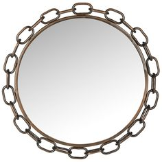 Safavieh Home Collection Antique Copper Atlantis Chain Link Mirror, Antique Copper ** Sensational bargains just a click away : Decor Mirrors
