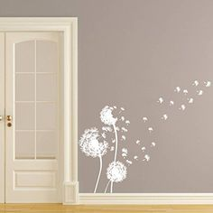Wall Decals Dandelion Flower Nature Plants Grass Forest Nursery Bedroom Vinyl Sticker Wall Decor Murals Wall Decal: Amazon.co.uk: Kitchen & Home