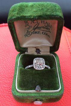 My DREAM ring - Cushion cut halo engagement ring Dream Engagement Rings, Wedding Engagement, Wedding Bands, Wedding Ring, Solitaire Engagement, Cushion Cut Engagement Ring, Just In Case, Just For You, Cushion Cut Halo