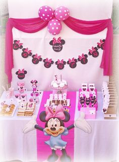 girl birthday party ideas | Disney Minnie Mouse Girl Pink 2nd Birthday Party Planning Ideas