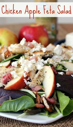 Chicken Apple Feta Salad. A delicious, healthy, and filling meal ...