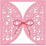 gatefold flourish butterfly card