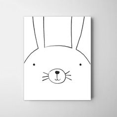 Sweet little minimal bunny by Coco & Blu. Giclee printed on thick archival natural cotton paper using fade resistant ultrachrome giclee inks - Frame and mat not included - Colors depicted on your scre