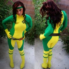 Sexy X-men Rogue Marvel cosplay Halloween by SabraKadabraFashion +marvel+cosplay+costume+rogue+gambit