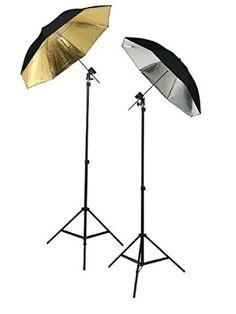 ePhoto 6 Umbrellas Photography Studio Off Camera Flash Lighting Kit TWO Flash Shoe Mounting Swivel Bracket