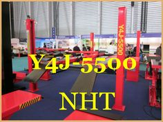 Factory Price Four Post Hydraulic Lifts for Wheel Alignment Service Station with CE Certification 5.5 tons