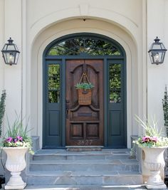beautiful front entry