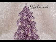 Day 5 of 10 Days of Christmas Ornaments with Cynthialoowho 2013 - diamond mesh Christmas tree